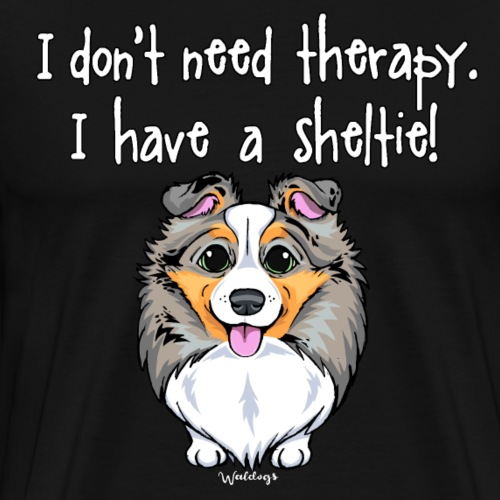 Sheltie Dog Therapy 3 - Men's Premium T-Shirt