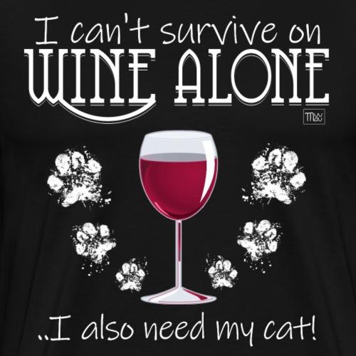 Wine Alone Cat III - Miesten premium t-paita