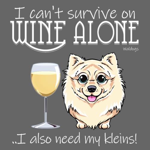Wine Alone Klein II - Miesten premium t-paita