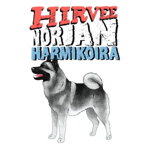 norjanharmikoira4 - Miesten premium t-paita