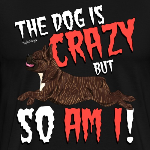 French Bulldog Crazy 5 - Men's Premium T-Shirt