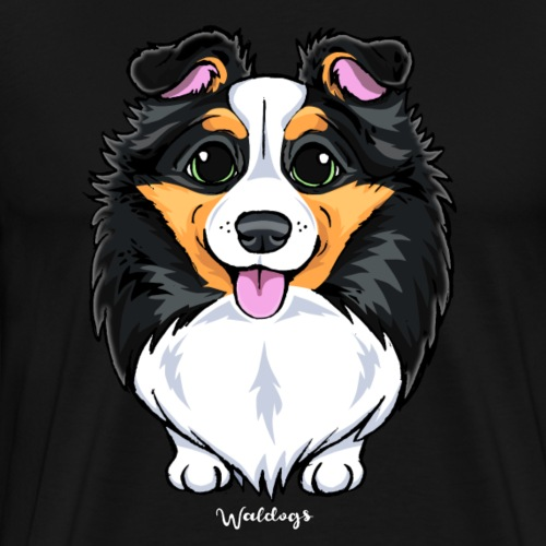 Sheltie Dog Cute - Men's Premium T-Shirt