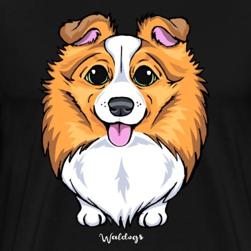 Sheltie Dog Cute 3 - Men's Premium T-Shirt