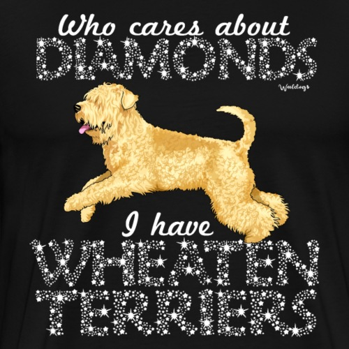 Wheaten Terrier Diamonds 2 - Men's Premium T-Shirt