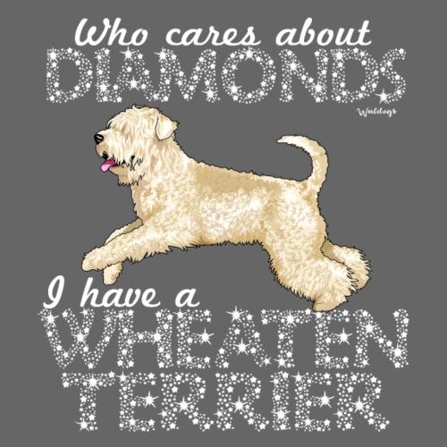 Wheaten Terrier Diamonds 4 - Miesten premium t-paita