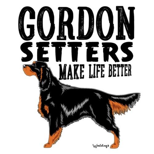 Gordon Setter Better 2 - Miesten premium t-paita