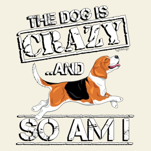 Beagle Crazy - Miesten premium t-paita