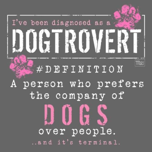 Dogtrovert Pink - Miesten premium t-paita