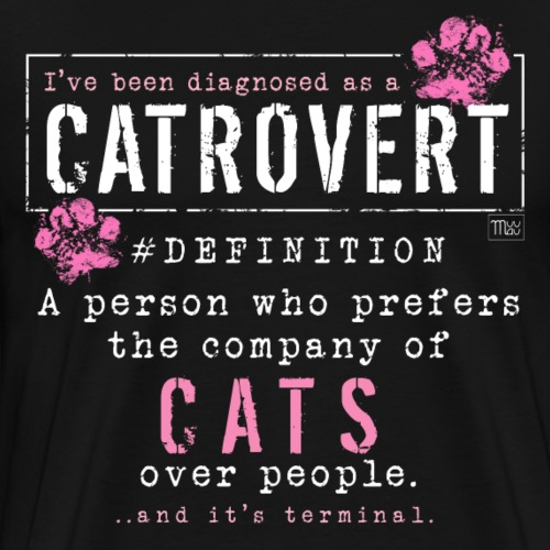 Catrovert Pink - Miesten premium t-paita