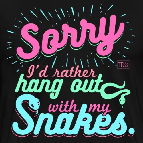 Sorry Snakes II - Miesten premium t-paita