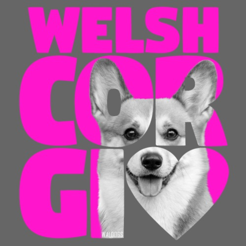 NASSU Corgi Pink - Miesten premium t-paita