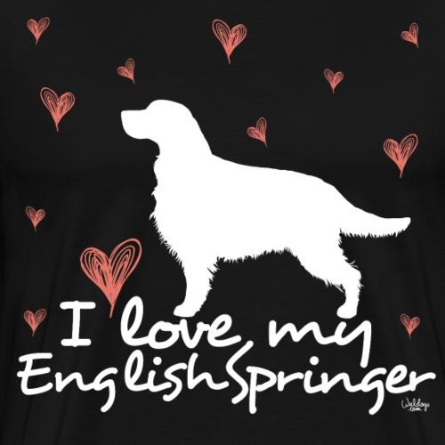 lovemyenglishspringer2 - Men's Premium T-Shirt