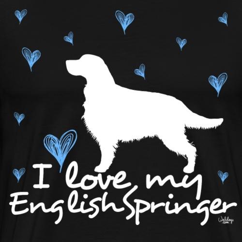 lovemyenglishspringer - Men's Premium T-Shirt