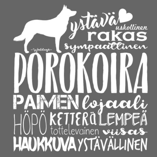 sanaporokoira - Miesten premium t-paita
