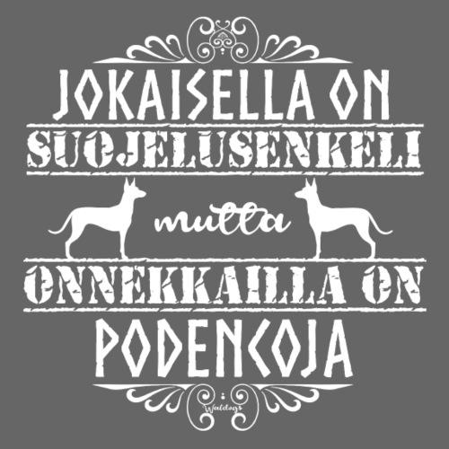 Podenco Enkeli - Miesten premium t-paita