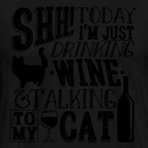 SHH Wine Cat B - Miesten premium t-paita