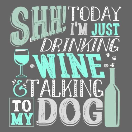 SHH Wine Dogs Cyan - Miesten premium t-paita