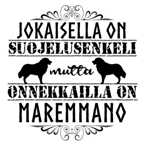 Maremmano Enkeli II - Miesten premium t-paita