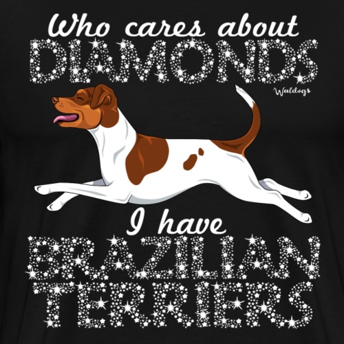 Brazilian Terrier Diamonds - Men's Premium T-Shirt