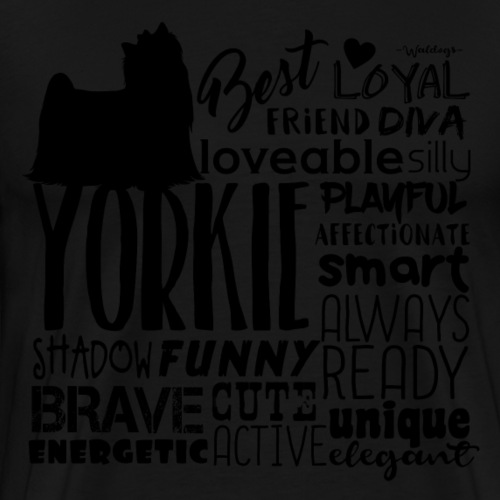 Yorkshire Terrier Words B2 - Men's Premium T-Shirt