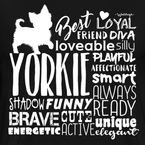 Yorkshire Terrier Words W2 - Men's Premium T-Shirt