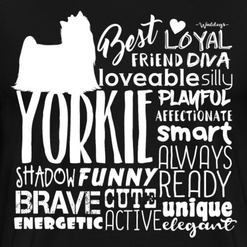 Yorkshire Terrier Words W - Men's Premium T-Shirt