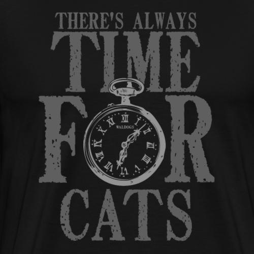 Time For Cats - Miesten premium t-paita