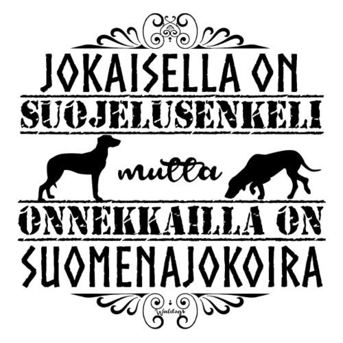 Suomenajokoira Enkelini 2 - Miesten premium t-paita
