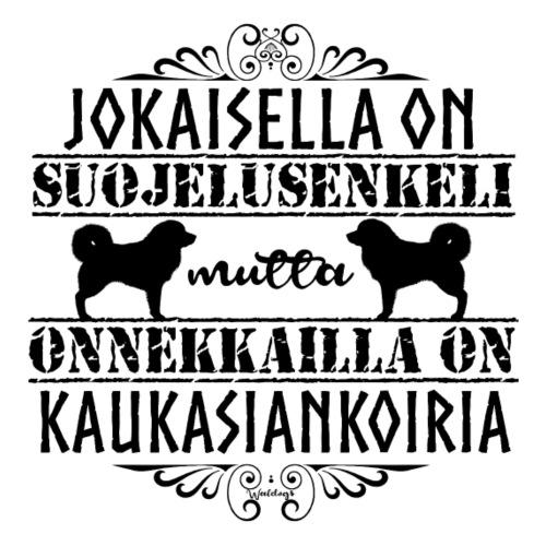 Kaukasiankoira Enkeli 2 - Miesten premium t-paita