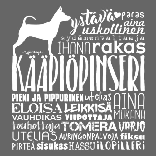 Kääpiöpinseri Sanat V - Miesten premium t-paita