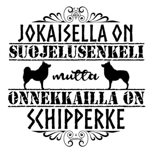 Schipperke Enkeli M - Miesten premium t-paita