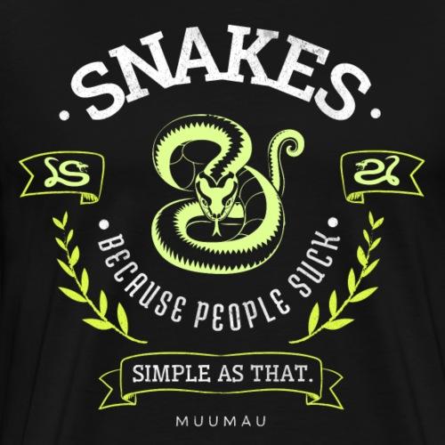 Snakes - People Suck II - Miesten premium t-paita