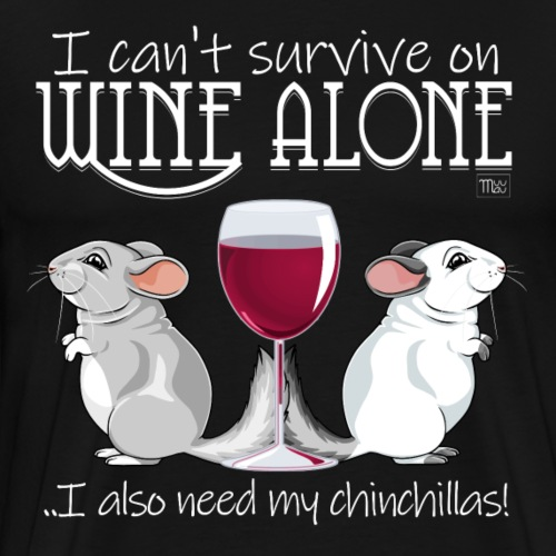 Wine Alone Chinchillas II - Miesten premium t-paita