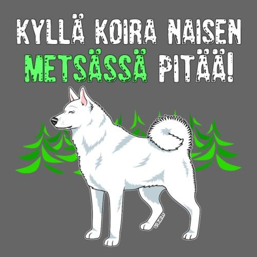 Valkki Naisen Metsässä - Miesten premium t-paita