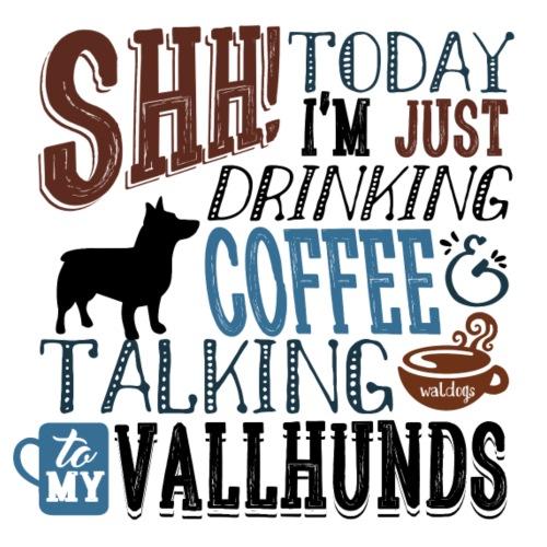 SHH Vallhund Coffee B 4 - Miesten premium t-paita