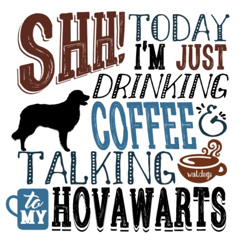 SHH Hovawart Coffee B2 - Miesten premium t-paita