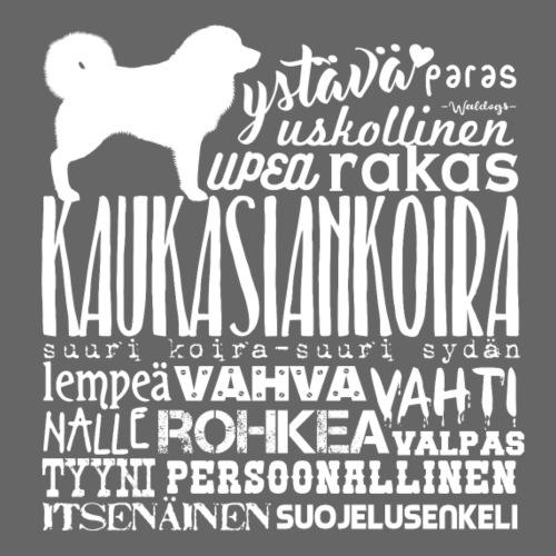Kaukasiankoira Sanat V - Miesten premium t-paita