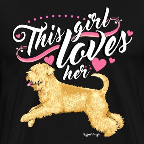 Wheaten Terrier Girl 2 - Men's Premium T-Shirt