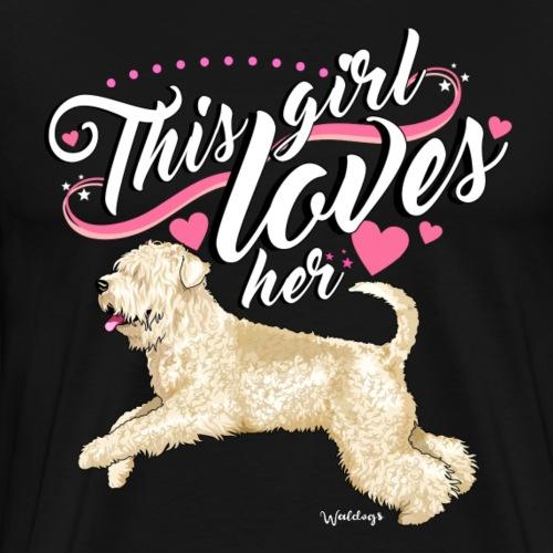 Wheaten Terrier Girl - Men's Premium T-Shirt