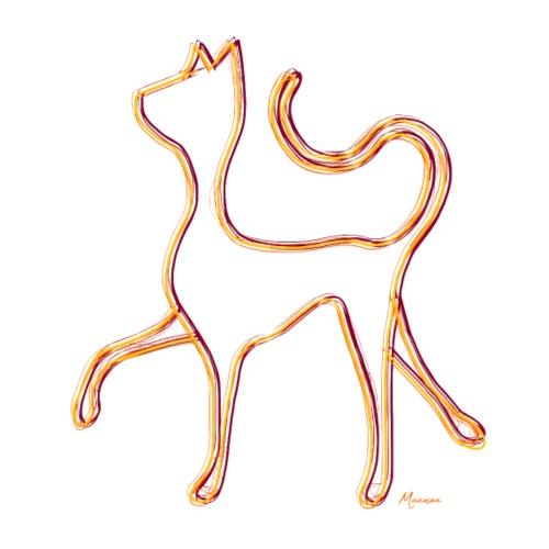 Hypnocat - Orange - Miesten premium t-paita