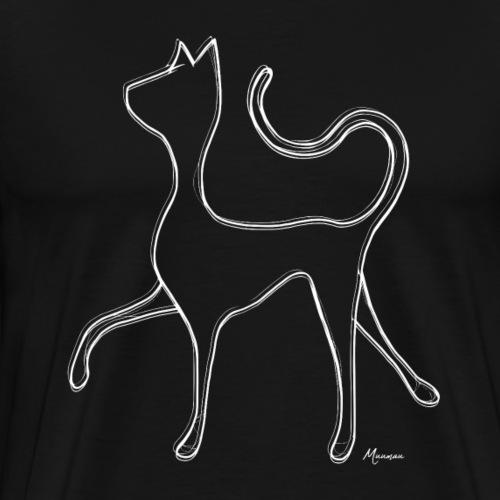 Hypnocat - White - Miesten premium t-paita