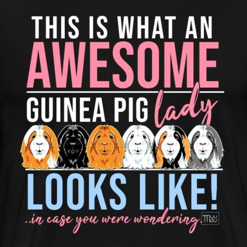 Awesome Guinea Pig Lady I - Miesten premium t-paita