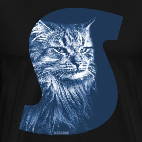 Siberian Cat S Blue - Miesten premium t-paita