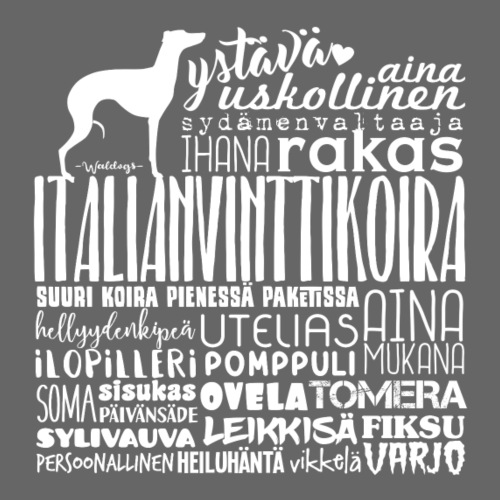 Italianvinttikoira Sanat - Miesten premium t-paita