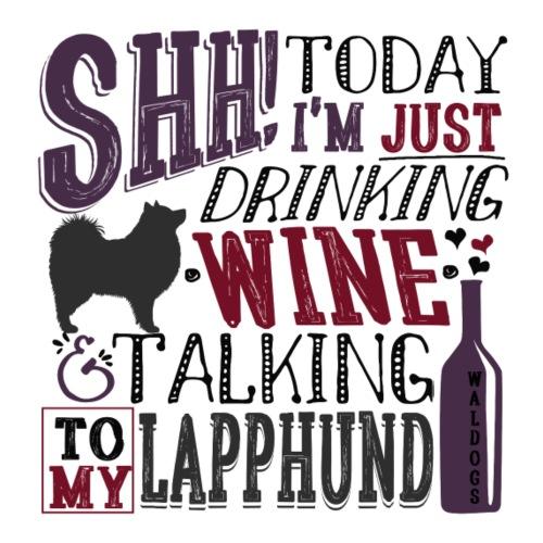 SHH Lapphund Wine Lilac - Miesten premium t-paita