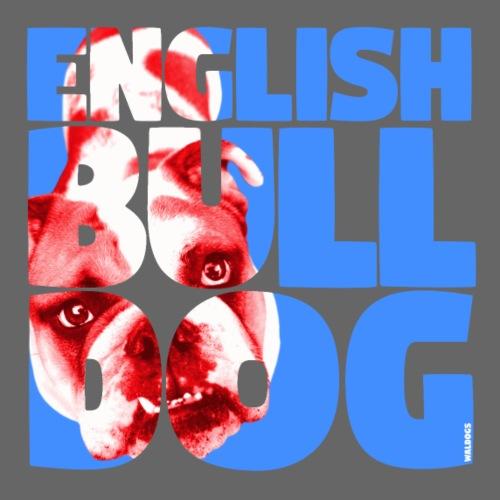 English Bulldog Blue - Miesten premium t-paita