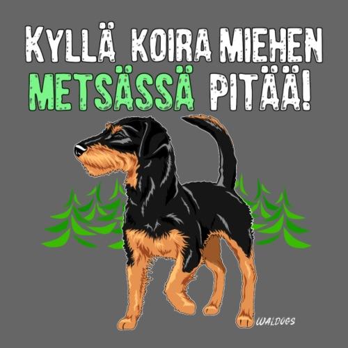 Saku Miehen Metsässä - Miesten premium t-paita