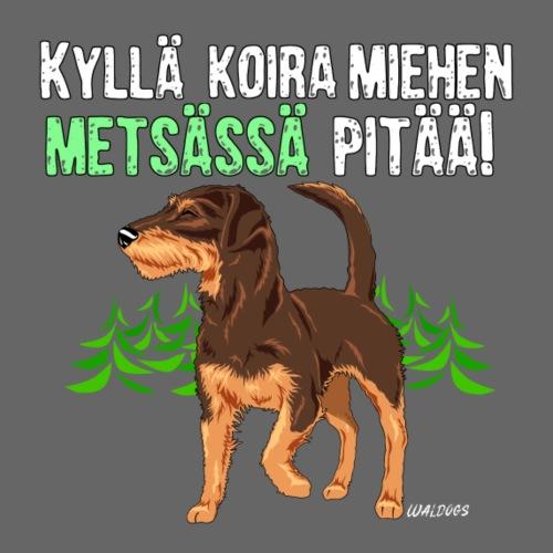 Saku Miehen Metsässä II - Miesten premium t-paita