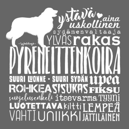 Pyreneittenkoira Sanat V - Miesten premium t-paita