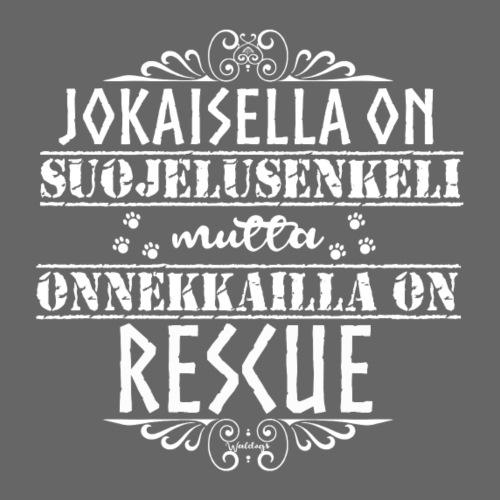 Rescue Enkelini Valkea - Miesten premium t-paita